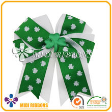 St. Patrick's Day Hair Bows, Irish Hair Bows, Shamrock Hair Bows
