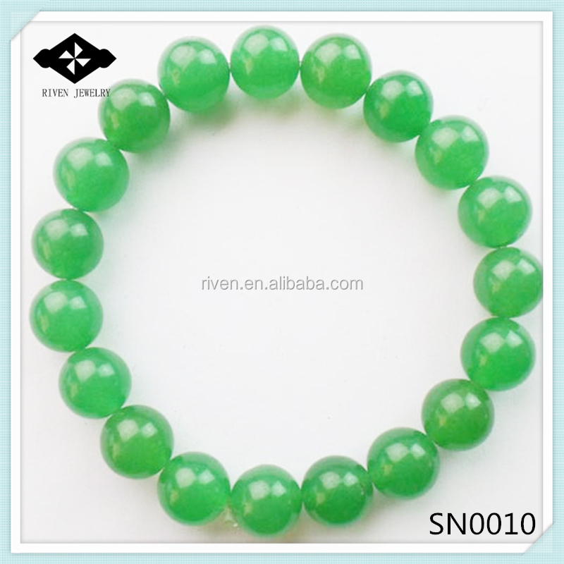SN0010 Stretch 4mm 6mm 8mm 10mm Round Beads Natural jade stone bracelet for women.jpg