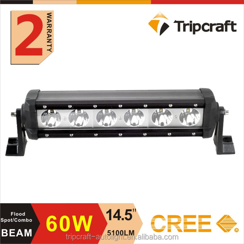 Hot sales toyota land cruiser rigid led light bar 60w led amber warning light bar