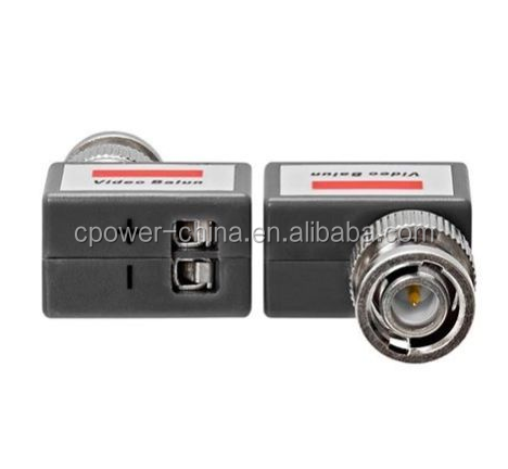 CCTV Coaxial BNC Video and Power Balun Transceiver to CAT5 RIGHT ANGLE