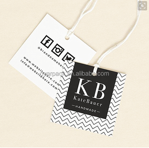 personalised custom printed clothing tags with branded logo