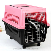 2015 new Trolley lifting cargo aircraft cage cat dog pet travel box pet air box check box