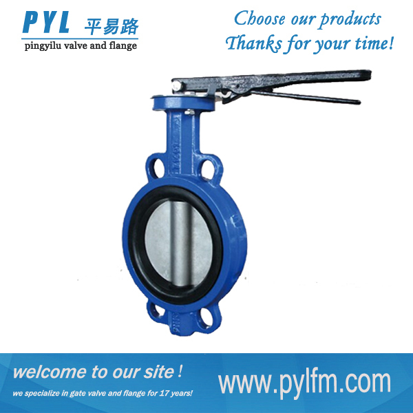 Cast iron wafer butterfly valve 3d model china supplier