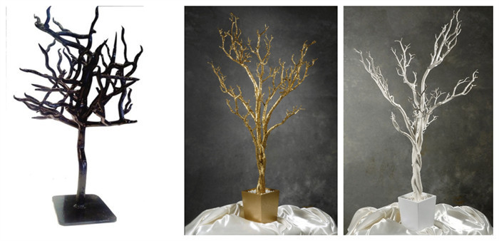 Factory sale large trees artificial white dry tree