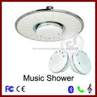 waterproof wireless bluetooth stereo speaker phone led music unique hand shower head