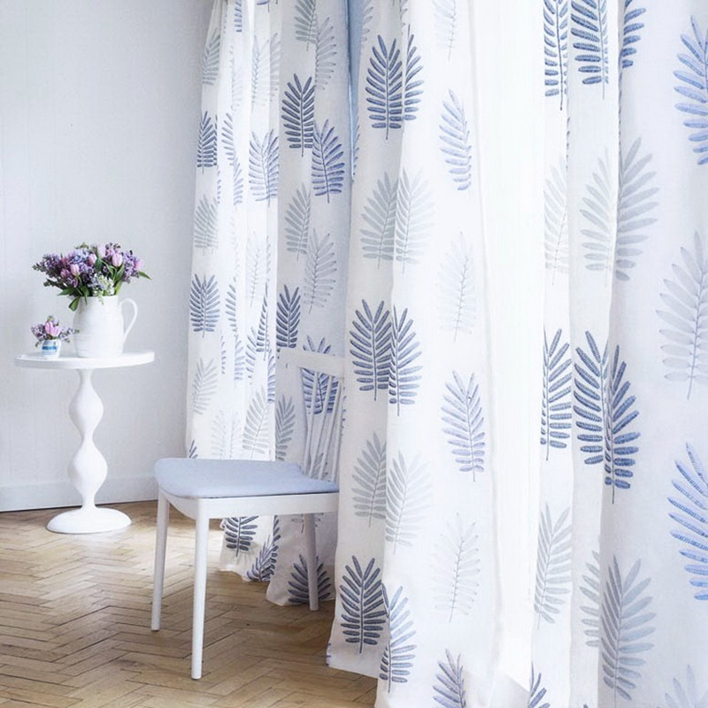 designs curtain2016 luxury embroidery fashion curtain ready made curtain nature style&leaf patterncurtain fabric