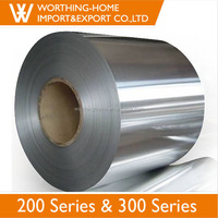 Prime Material 1219mm 2B BA SUS 304 201 Stainless Steel Coil Price Per kg