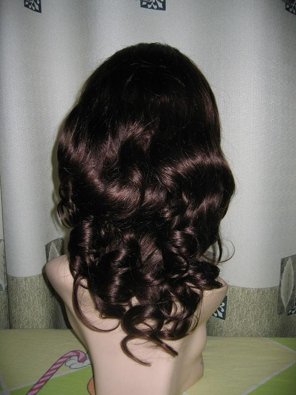 China best quality chocolate hair beauty full lace wig