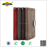 Special wood pattern PU leather flip cover case for iPhone 6s plus