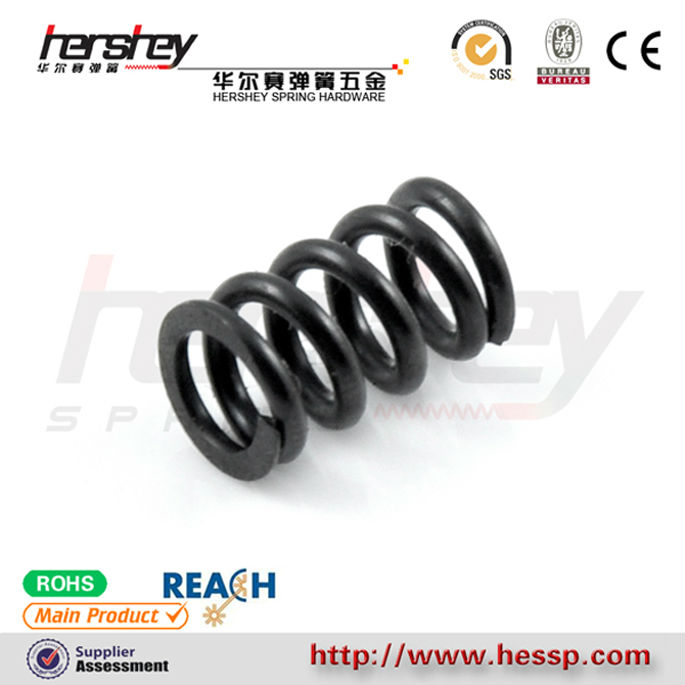 compression black coating carbon steel bicycle shock absorption spring