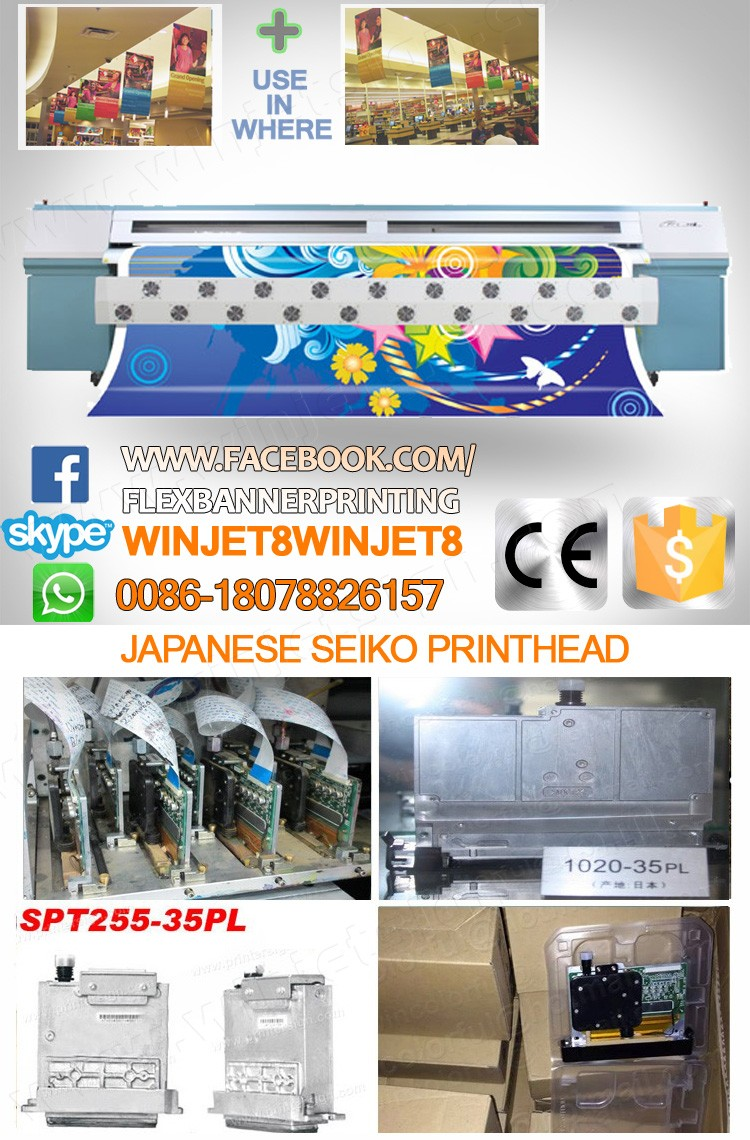 Printhead for Infinity/Phaeton solvent /outdoor printer spt SPT 1020-35pl with high resolution
