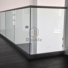 low price aluminium U channel 12mm tempered glass railing for derk