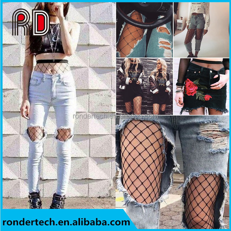 Women's Sexy Fishnet Pattern Dance Pants Female Hollow Fishnet Stockings Pantyhose Tights