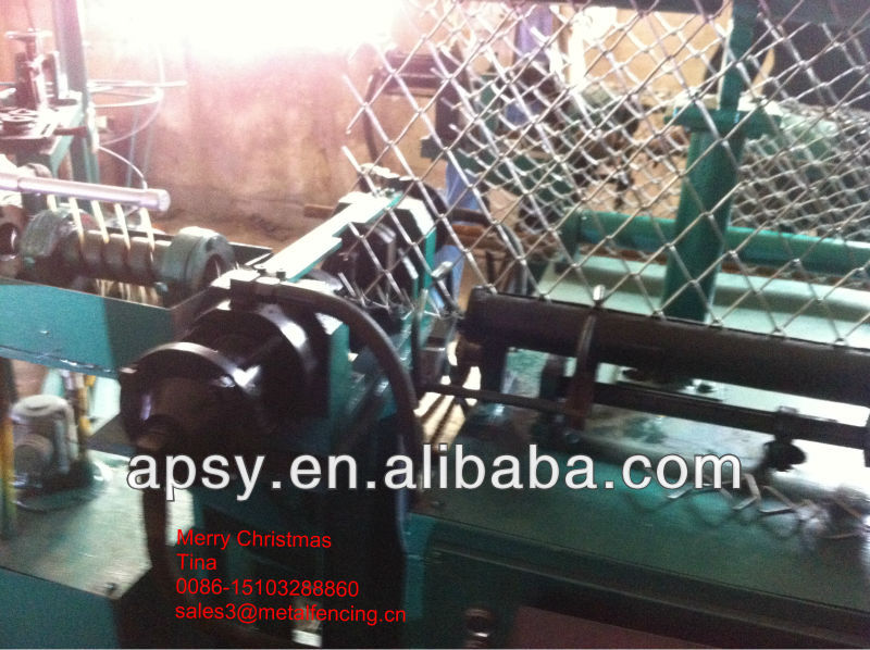 Automatic Double Wire diamond mesh machine/chain link fence machine
