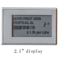 2.1 inch Recycle RFID electronic shelf price label LCD display / electronic label for supermarkets
