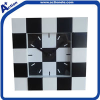 modern square home decoration table or wall clock