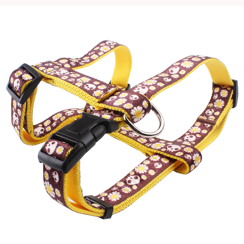 Hot selling dog products popular logo H-shaped no pull pet harness adjustable size