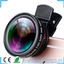 Mobile Phone 0.45x Super Wide Angle Lens 12.5x Super Macro Lens Universal professional HD camera lens for iPhone 6s 6 6s plus