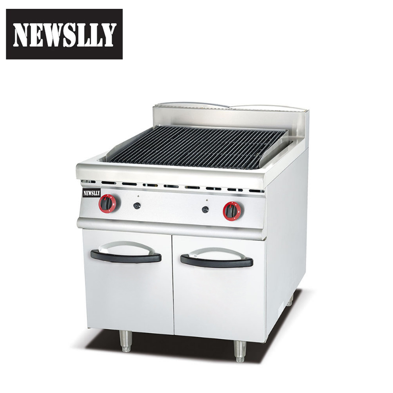 Commercial kitchen equipment BBQ grill Gas Rock Grill Gas Lava Stone Grill