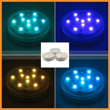16 Colors 10 LED Submersible Waterproof Remot Control Party Decorate RGB Bulb Light