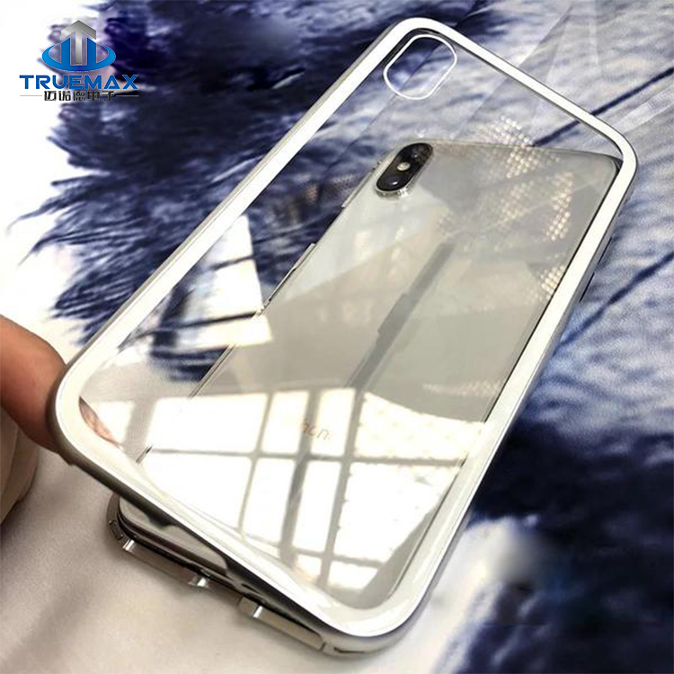 Hot Selling Fully Protecting Cover for iPhone X 8 7 6S 6 Plus Magnetic Bumper Glass Metal Case