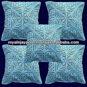 INDIAN HOME FURNISHING PRODUCTS GORGEOUS INDIAN HANDMADE APPLIQUE WORK CUSHION COVERS