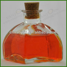 Small Pyramid Clear Glass Bottle 100ml