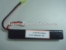 KAYO 11.1v 1200mAh 15C rechargeable RC lipo battery pack
