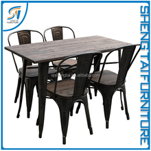 commercial furniture wooden material cafe shop bar table