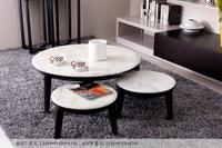 modern design new centre marble top wooden tea table design photos