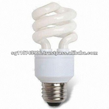 11 to 23W Power and 10,000 Hours Lifespan T3 Energy-saving Half Spiral CFL