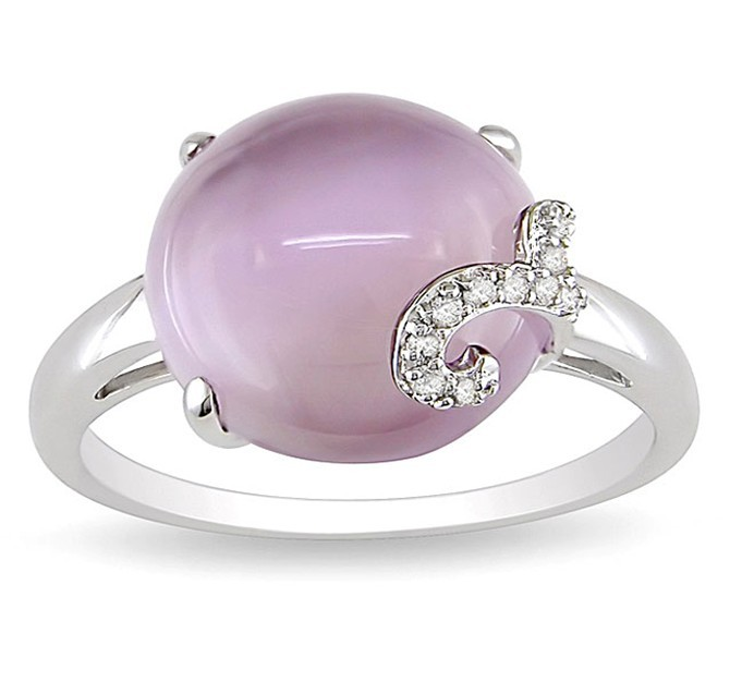 Fashion Stainless Steel Round Shape Large Stone Opal Gem Ring for Women ZZR105