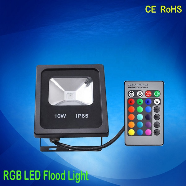 10w Waterproof Multi Color Changing Outdoor RGB LED Flood Light