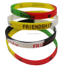 new arrival environment material printing words segmented color custom silicone wristband
