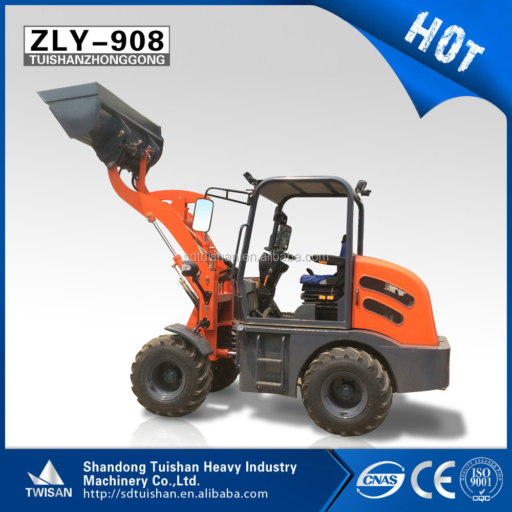 18KM/H maximum 4 wheel driving speed loader mini 0.5 ton wheel loader for sale