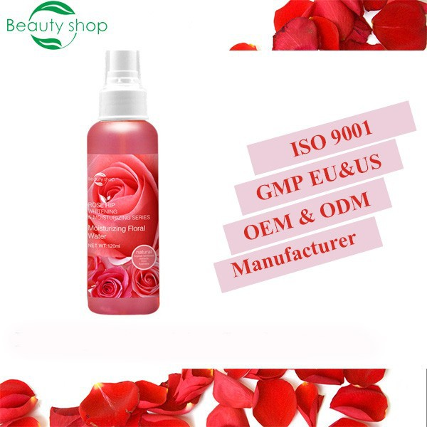 Organic moisturizing rose water facial spray