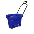 Plastic Four Wheel Supermarket Shopping Cart