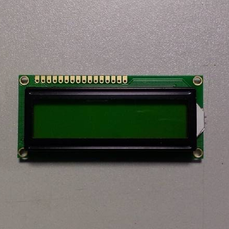 character lcd display module 8*1, yellow-green STN, outline dimension 54.0x37.0x13.5 mm