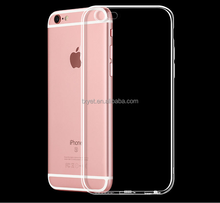 Wholesale Ultra thin crystal transparent phone soft TPU cell phone back cover case for iphone 7 7 Plus