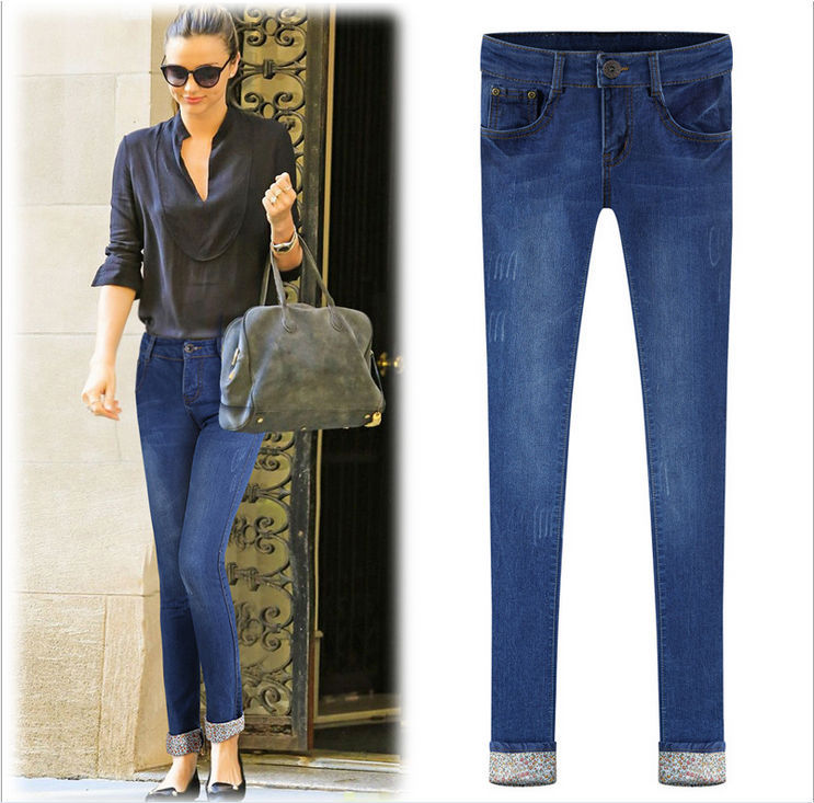 2014 European brand latest lady skinny denim jean