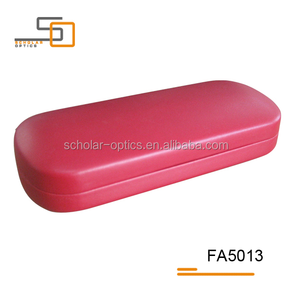 High quality Red PU leather iron glasses case