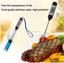 DIHAO small digital thermometer bbq lcd portable digital cooking thermometer with temperature probe stainless steel food