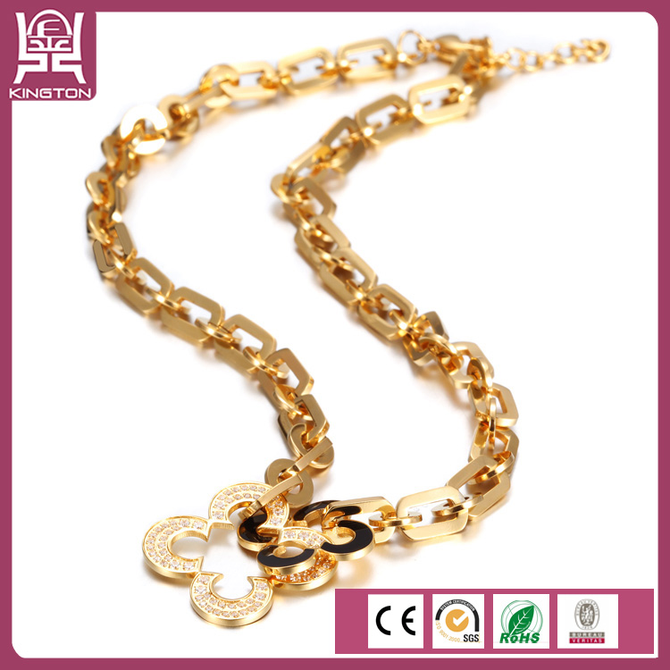 fashion PVD plating 18k gold chain necklace