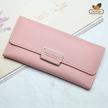 Beautiful womens leather travel wallet with zip coin pocket ladies trendy hand purse