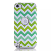 3 In 1 TPU & PC Pattern Phone Cover for Ipod Touch 5 Case