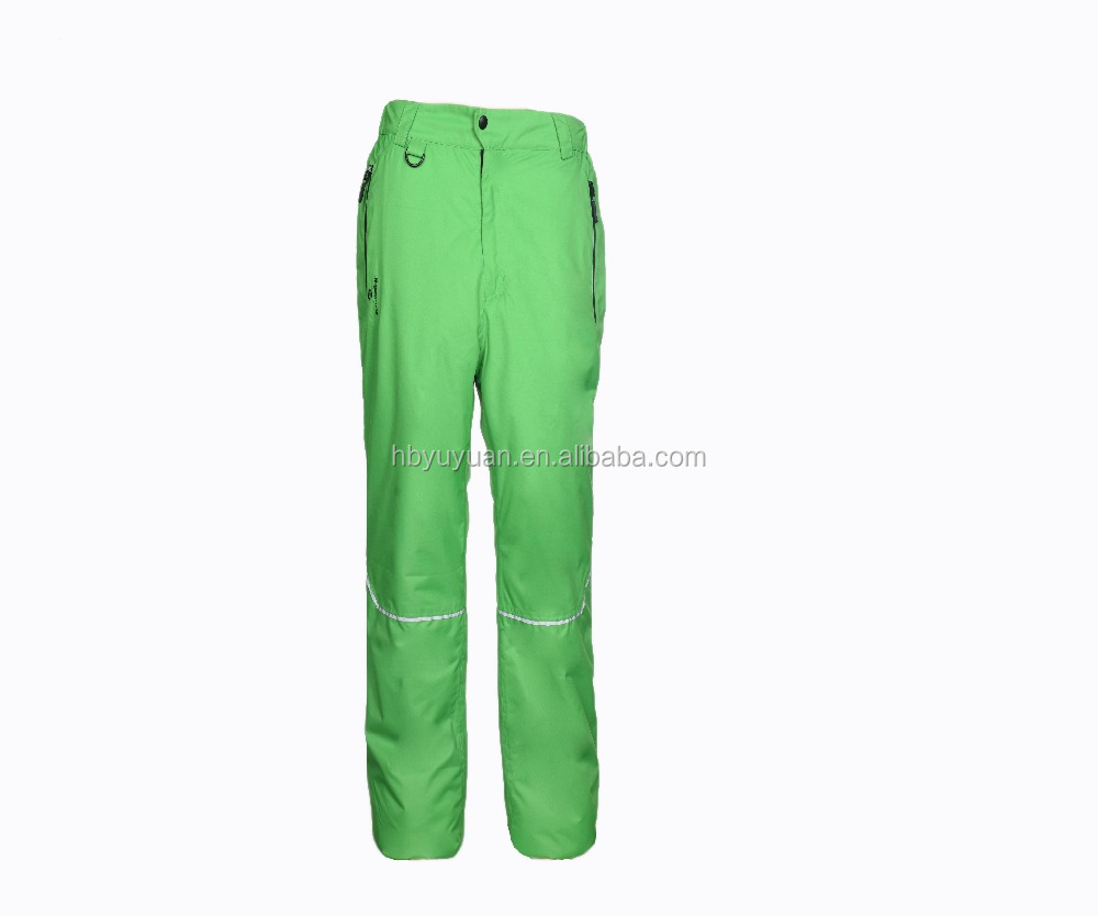 Colorful waterproof men's ski pants