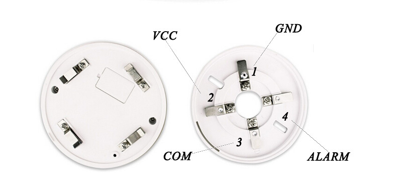 2/4wired addressable optical smoke detector