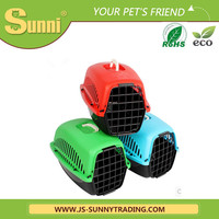Puppy cage folding plastic pet carrier