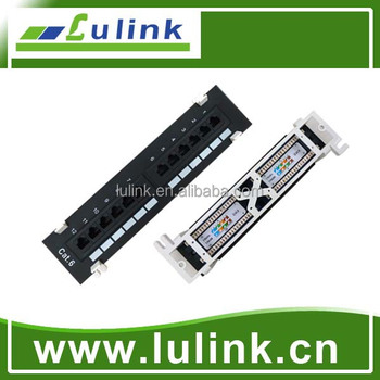 Cat 6 wall mounted patch panels