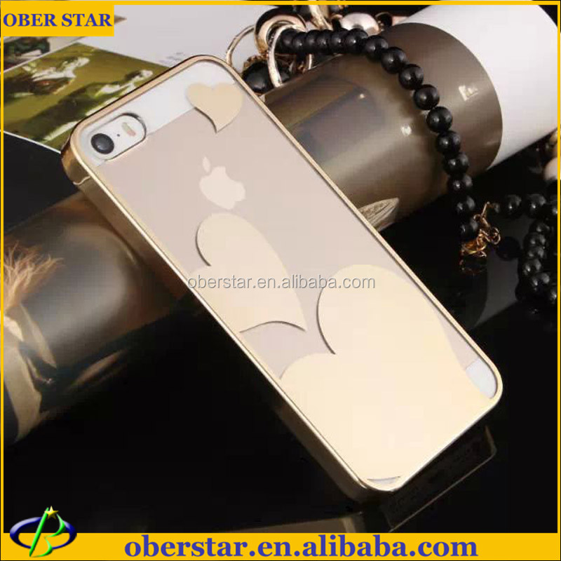 Newest Clear Transparent mobile Cell Phone Back Covering Case for Apple iPhone5 With Picture